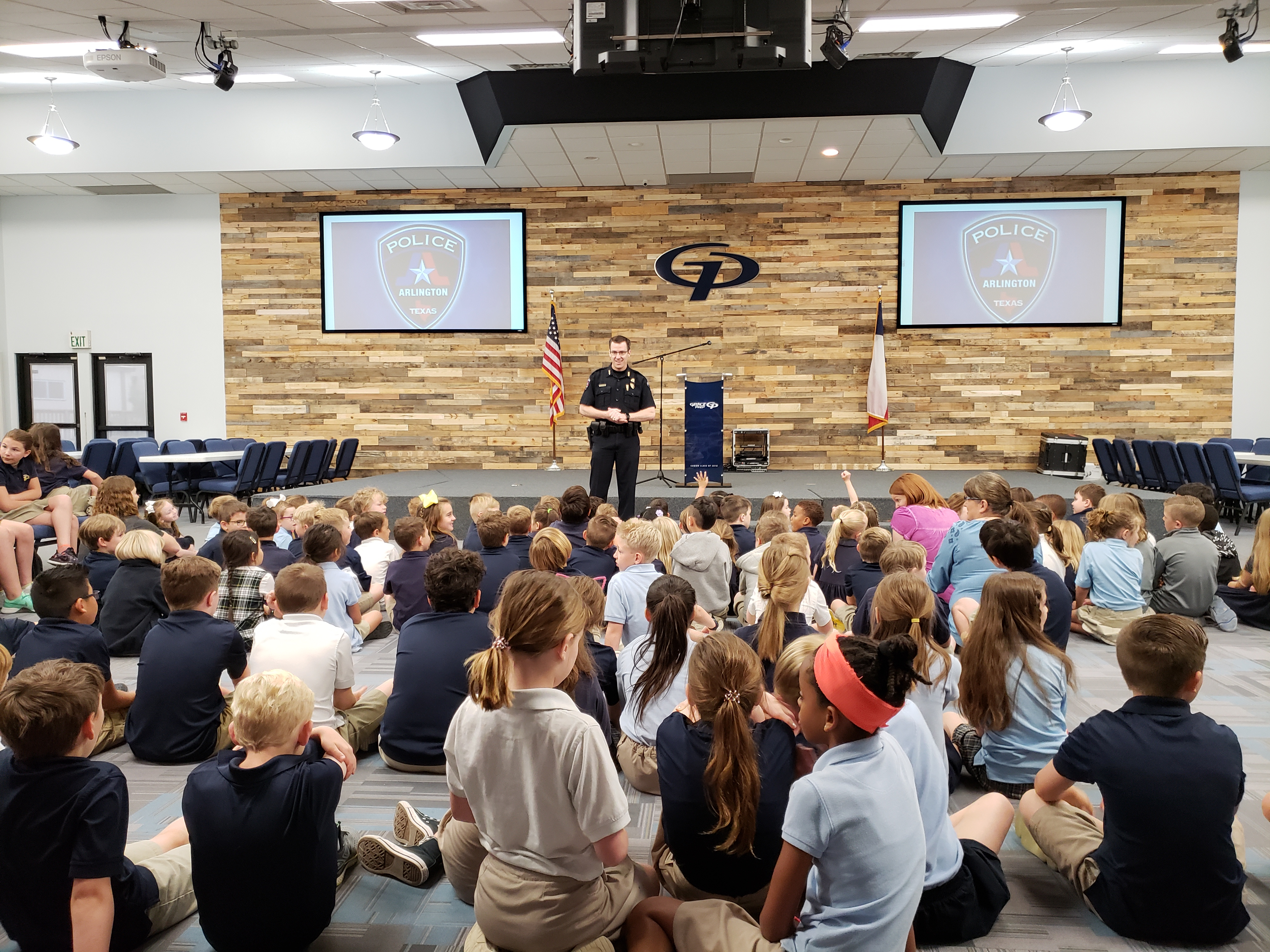 Elementary Lions Hear from Police Chief
